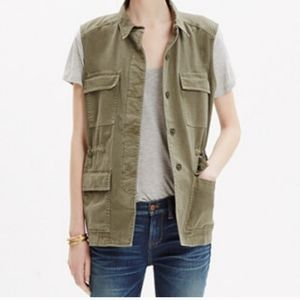 Madewell Utility Vest Size M Cinched Waist USED